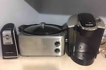 electric can opener and oversized Crockpot.