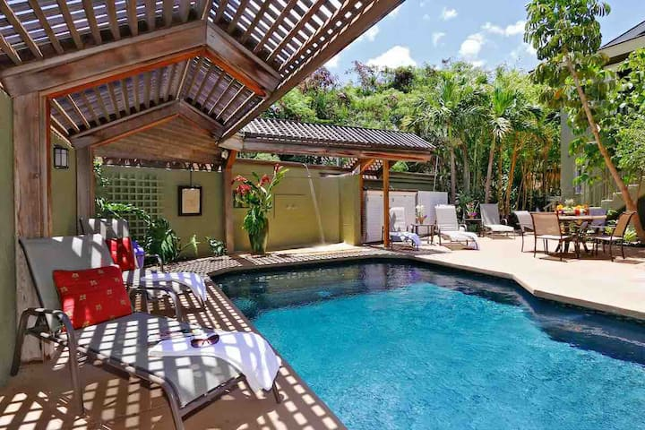 Luxury Poolside Bungalow Steps to Beach