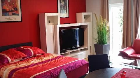Stor lägenhet för 4-14 pers. i Halle/Leipzig-området