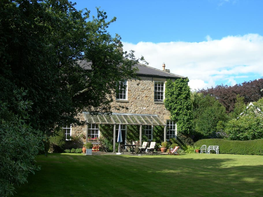 The Old Rectory house and garden.