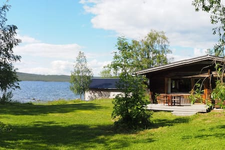 Cosy log cabin by lake - swim in drinking water!