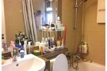 Closer Look at Wash  Basin & Mirror.