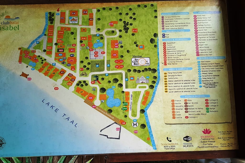 A map of Club Balai Isabel.