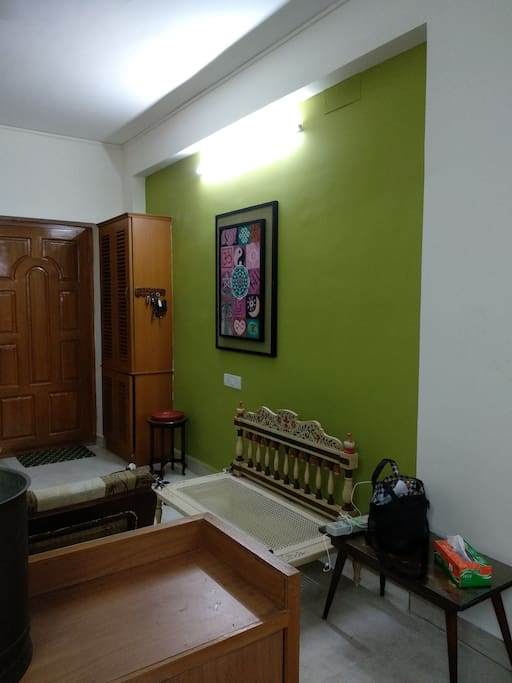 Living with art wall view