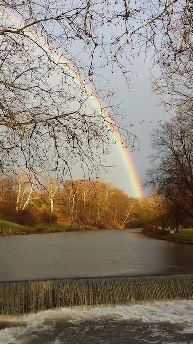 Rainbow over Mill Creek taken by my awesome neighbors!