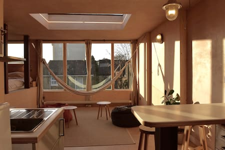 Brixton ensuite loft conversion, with kitchenette. - London - Loft