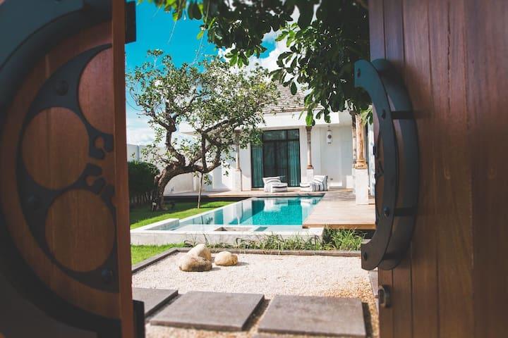 【VS】超美的中国风三卧海盐泳池别墅 Luxury Chinese style pool villa