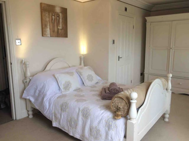 On the second floor Bedroom 1 has fabulous views from the window and also has an en-suite with shower.
