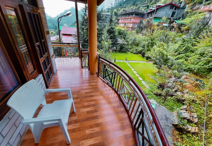 """THE NEXT WORLD"" Comfy rooms with deodar views"