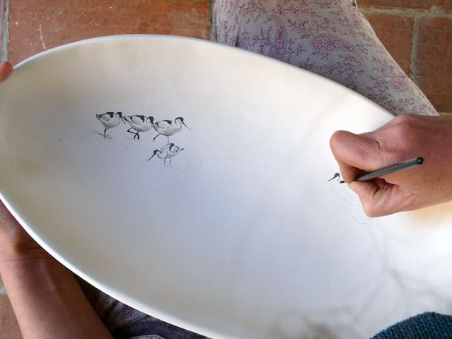 Drawing on the clay