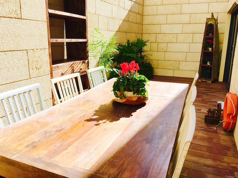 Private sun balcony with full size table - most of the year fully usable in the outdoors b