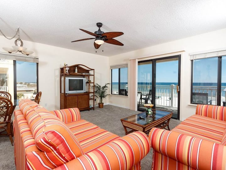 Gulf-Front Condo On Okaloosa Island! Steps To Famed White Sandy Beaches!