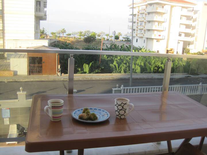 Sea view apartment for rent in beautiful Kestel