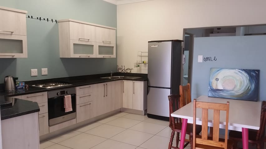 Fully kitted kitchen for your self-catering convenience.