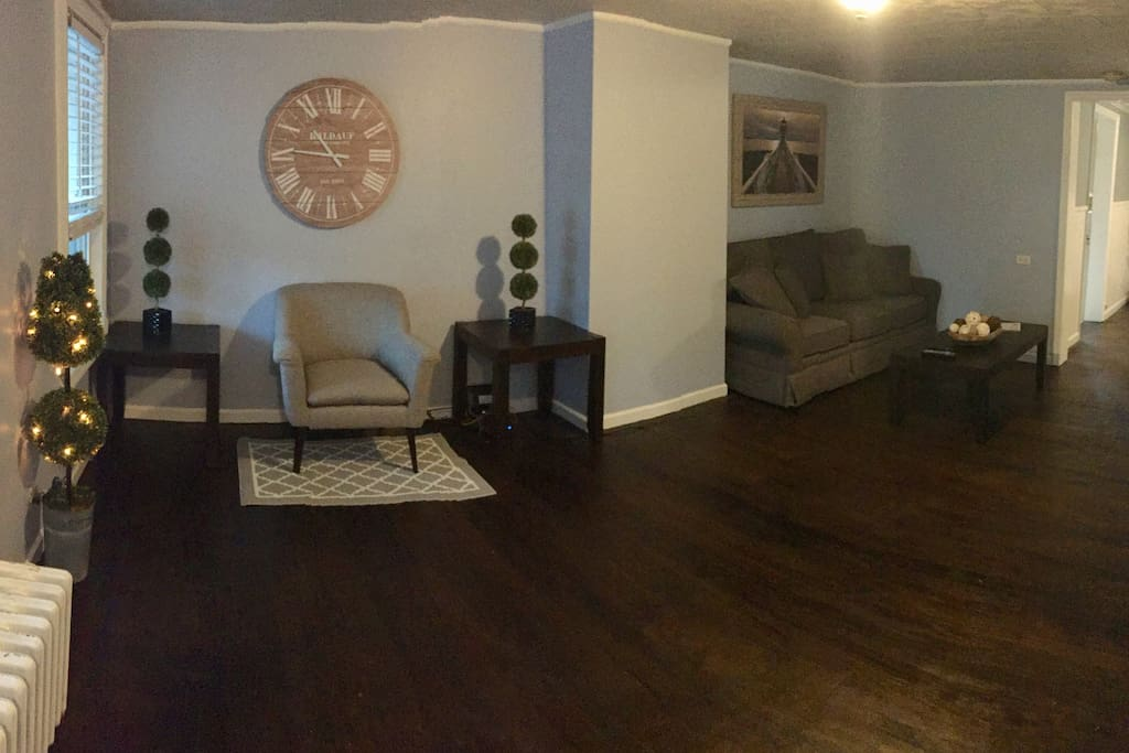 Newly furnished living room.