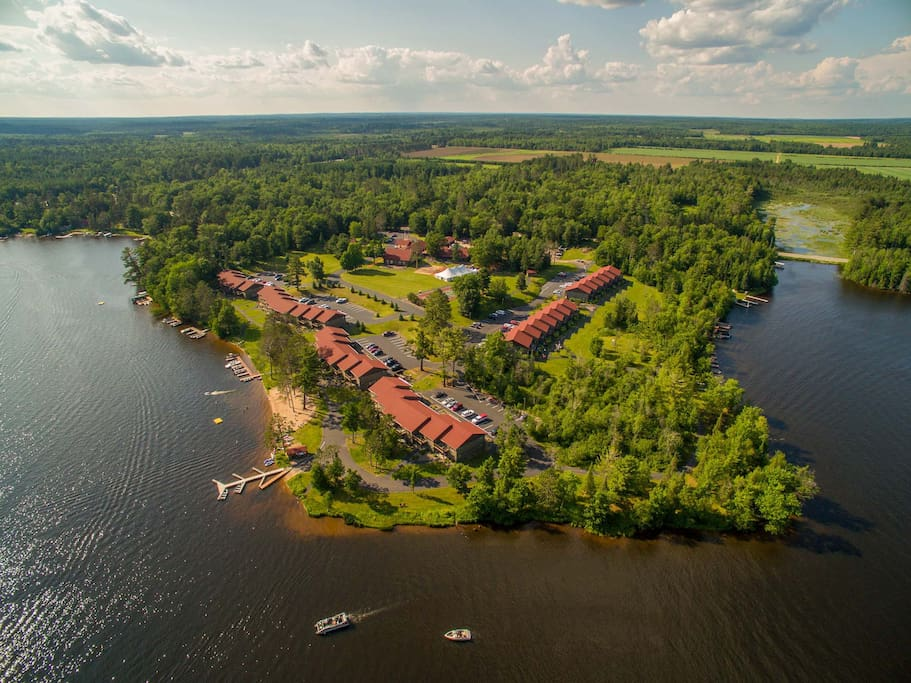 Aerial of the property.