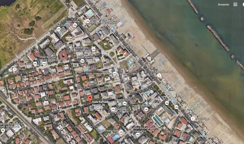 monolocale spartano 300 metri dal mare 8p - Cesenatico - Lägenhet
