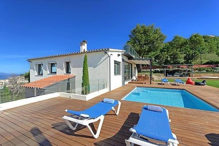 Villa Son Rich is an exquisite modern villa boasting magnificent sea and mountain views fr
