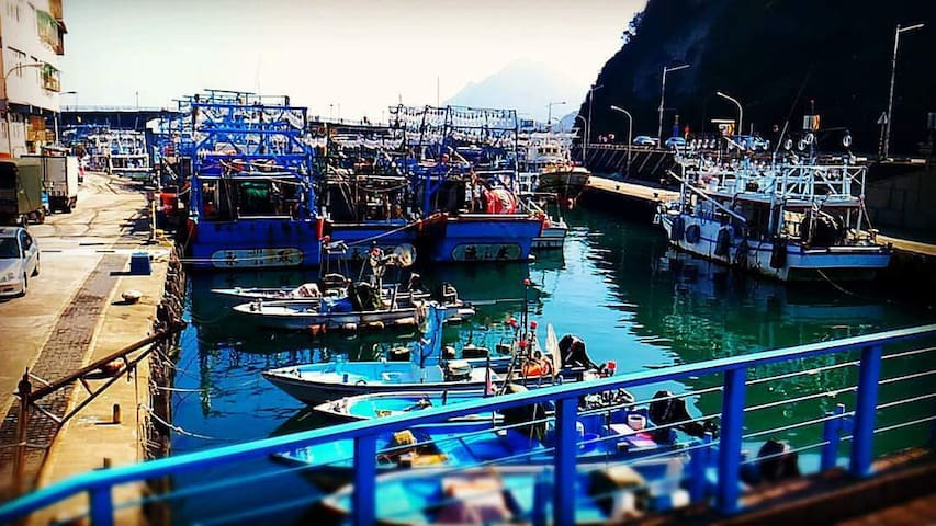 如詩如畫的長潭漁港