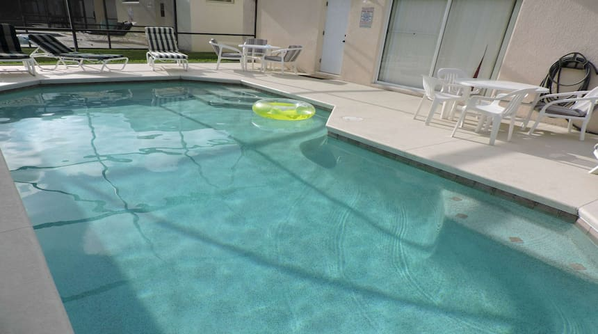 Your large pool and deck
