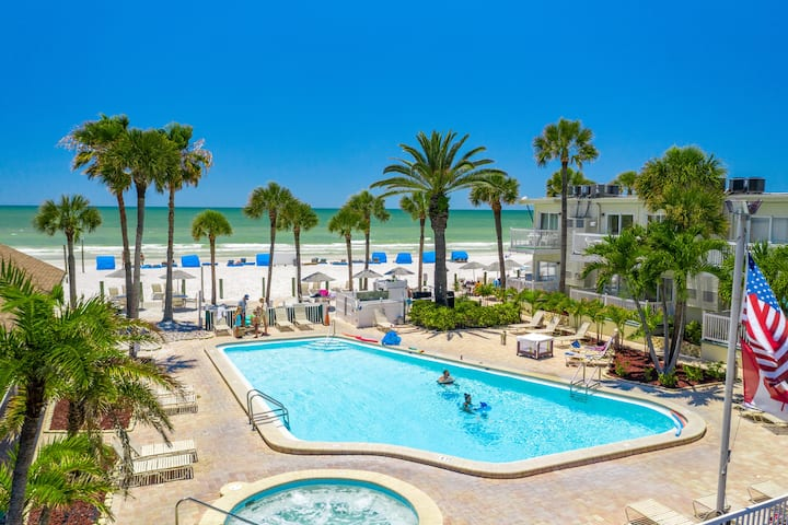 1BR Beachfront Condo w/ Pool & Private Beach Area
