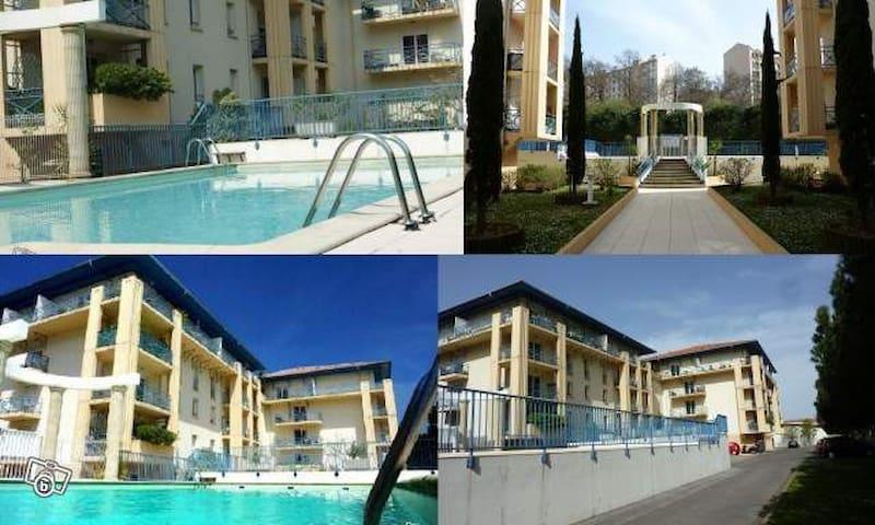 Joli T2 dans résidence de standing avec piscine