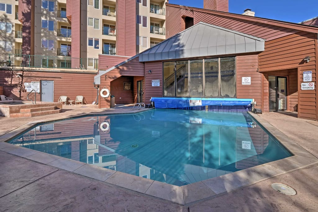 Take advantage of the various community amenities, including this outdoor pool.