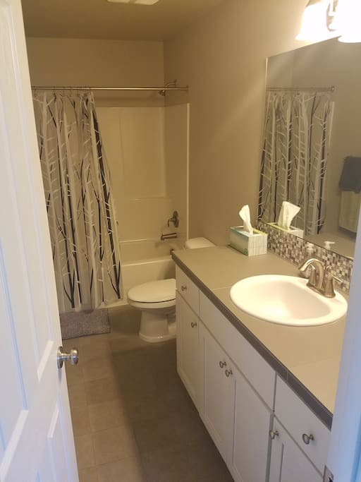 Shared Bathroom between two of the bedrooms