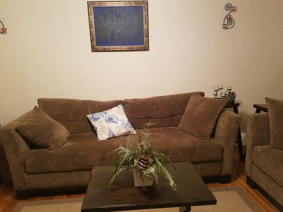 Welcome!  Relax in our sunny living room!
