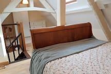 Large open bedroom