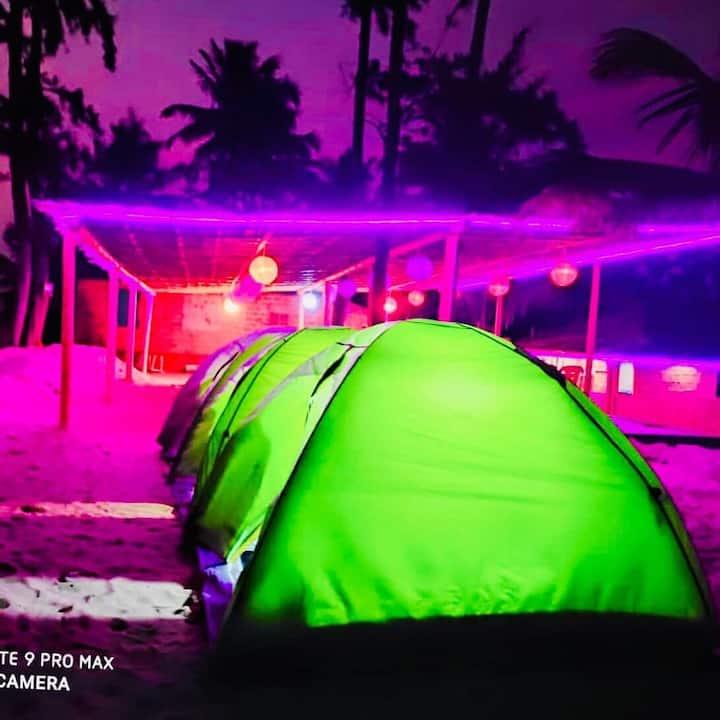 Beach camping at Gokarna