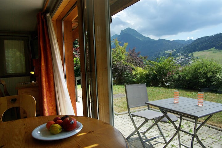 Morzine, apt Saint-Antoine, view and sun, 2/4 pers