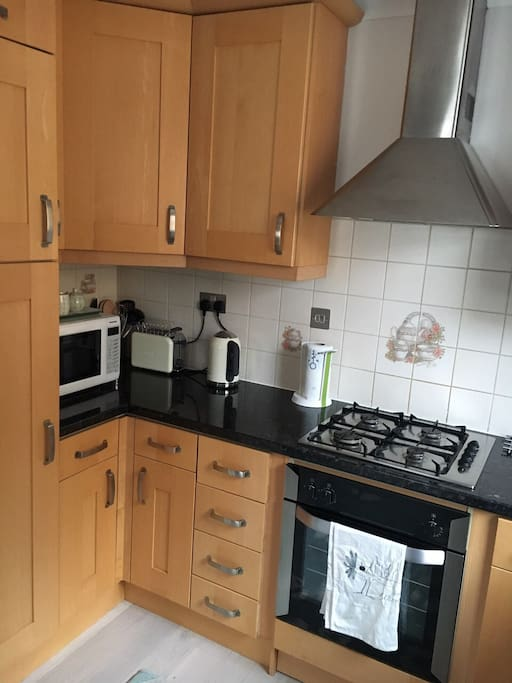 More amenities and a gas top stove.