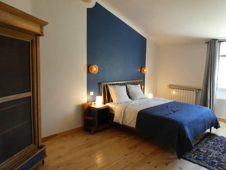 Chambre bleue - L'auguste Maison d'hôtes