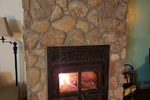 Warming stone fire place.