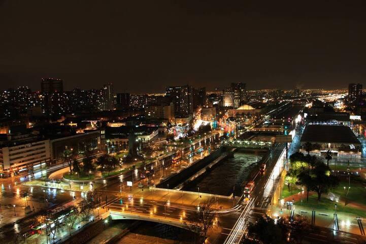 Noche en Stgo desde mi terraza