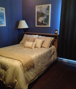 Beautiful blue room by the airport! - Nashville - House