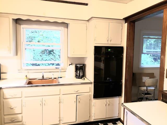 Kitchen toward the living