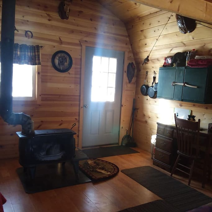 wood stove for heating and cooking