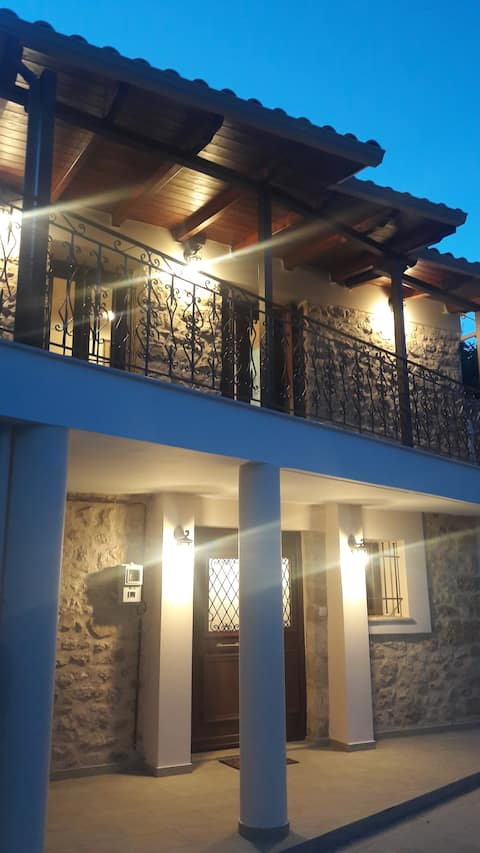 """Eftychia's Home""  at the village Karia   Lefkas."