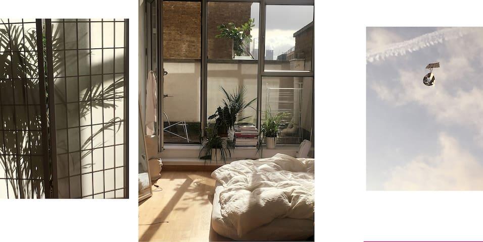 Sunny, minimalist, homely space on Kingsland Road
