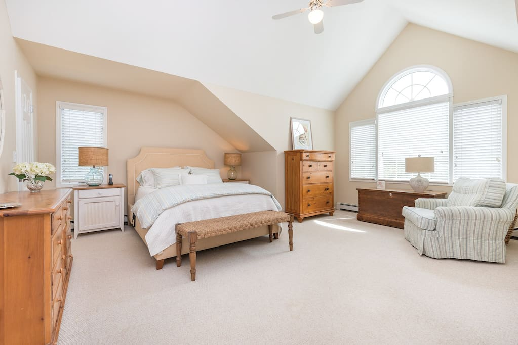Spacious Master BR with flat screen tv