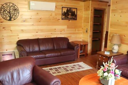 Rustic knotty pine getaway