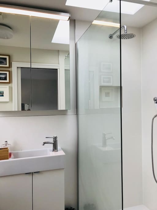 Ensuite bathroom with wall to wall shower