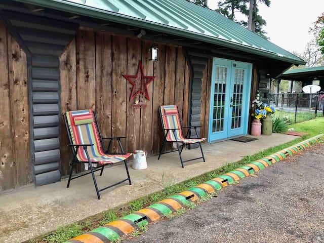 Rural East Texas Log Cabin
