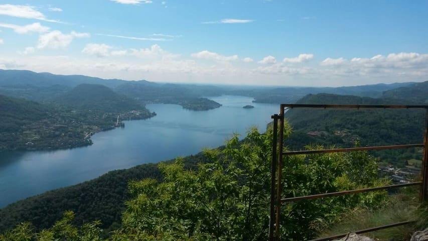 Cesara - il Lago d'Orta dalla Croce di Nonio