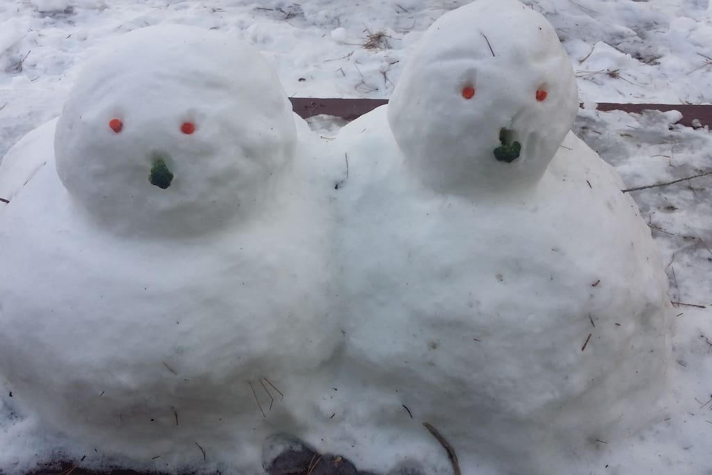 Great snow blobs left by guests that made us smile:)