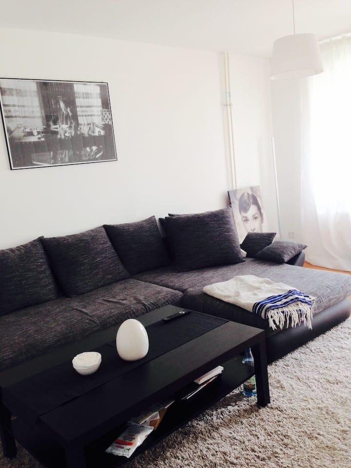 Quiet single flat with balcony in Frankfurt West