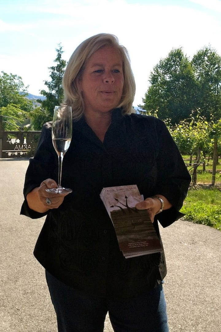 Your host, winemaker Judy Phelps