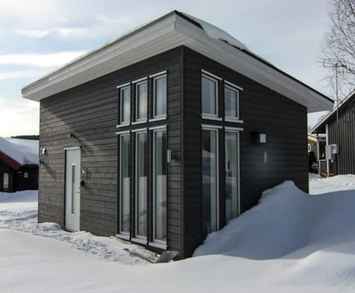 Nybyggt hus i Åredalen, separat sovrum+loft